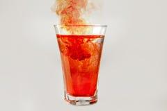 红色魔药玻璃 图库摄影