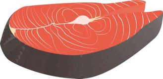 红色鱼三文鱼牛排寿司的 背景查出的白色 驼背,鳟鱼,海鲜 免版税库存照片