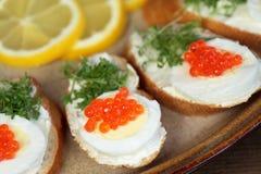 红色鱼子酱 免版税库存照片