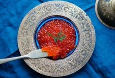 红色鱼子酱 库存照片