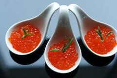 红色鱼子酱 库存图片
