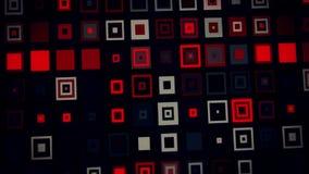 红色黑疯狂的霓虹正方形提取VJ圈背景 向量例证