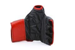 红色黑色的拳击手套 免版税图库摄影