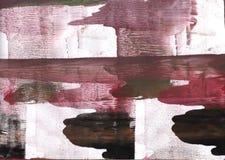 红色黑色被覆盖的水彩纹理 免版税库存图片