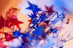 红色,白色和蓝星 免版税库存照片