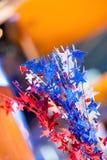 红色,白色和蓝星 免版税库存图片