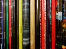 红色,绿色和黑暗的减速火箭的笔记本 库存照片