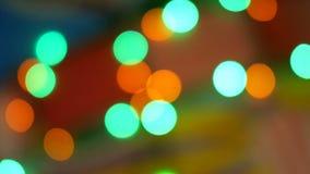 E 红色,绿色,黄色,桔子,蓝色defocused闪烁的bokeh欢乐背景 影视素材