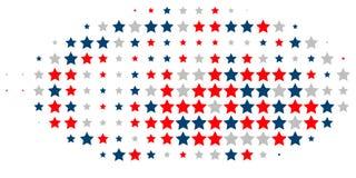 红色,蓝色,白色星抽象背景  库存图片