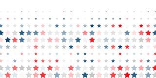 红色,蓝色,白色星抽象背景  库存照片
