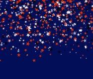 红色,黑白星为假日 库存图片
