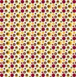 红色,绿色和黄色异想天开的小点 免版税库存图片