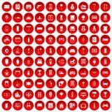 红色100个家庭的象被设置 皇族释放例证