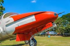 红色经典老飞机 免版税图库摄影