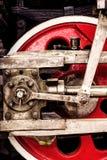 红色活动轮子特写镜头 库存图片