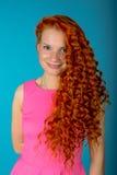 红色头发女孩 图库摄影