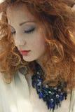 红色头发自然秀丽画象5 免版税库存照片