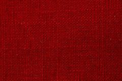 红色织品纹理 免版税库存图片