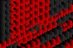 红色黑块背景 免版税库存照片