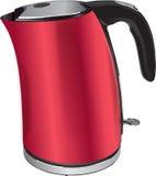 红色水壶 向量 免版税图库摄影