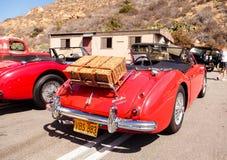 红色1961年奥斯汀Healey 3000 免版税库存照片