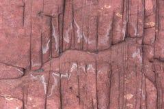 红色水成岩。垂悬的Shek Mun,香港 免版税库存图片