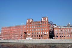 红色10月复合体在莫斯科 免版税库存照片