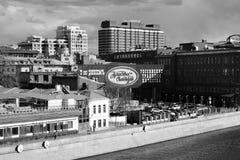 红色10月复合体在莫斯科 库存照片