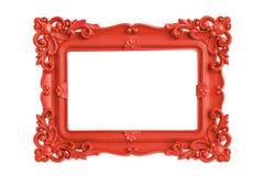 红色画框 库存图片