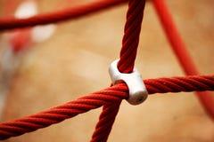 红色绳索横穿 库存照片