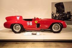 红色1955年法拉利857体育 免版税图库摄影