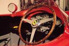 红色1955年法拉利857体育 库存图片