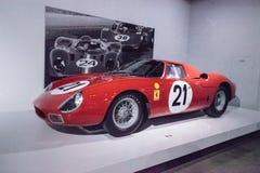 红色1965年法拉利250 LM 免版税库存图片