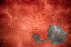 红色水泥纹理,墙壁的凝结面,色的backgr 库存图片