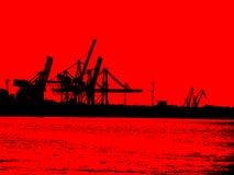 红色黑港口 库存图片