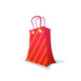 红色购物袋,传染媒介例证 库存例证
