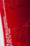 红色玻璃 免版税库存照片