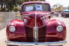 红色1940年福特小轿车 图库摄影