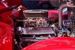 红色1936年福特模型68敞蓬车 库存图片