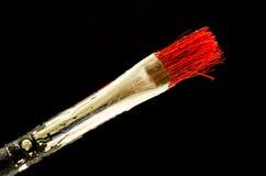红色画笔 库存照片