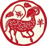 红色绵羊 免版税库存图片