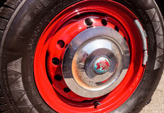 红色1957胜利跑车 库存照片
