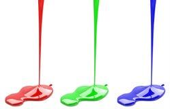 红色绿色和蓝色油漆 免版税库存照片