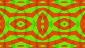 红色绿色背景,之字形对称,圈 向量例证