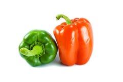 红色绿色辣椒 免版税库存图片