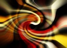 红色黄色黑白色和Tan摘要漩涡背景设计 库存图片
