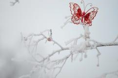 红色蝴蝶 免版税库存图片