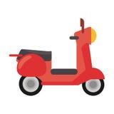 红色滑行车运输葡萄酒 免版税库存图片