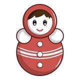 红色翻转者玩偶象,动画片样式 皇族释放例证