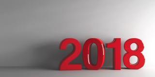 红色2018年 免版税库存照片